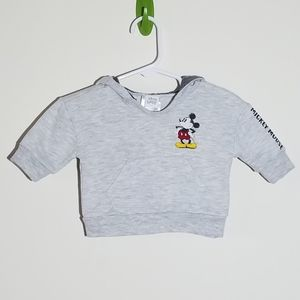 Disney Mickey Mouse Hoodie Pullover 0-3m